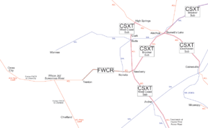 Florida Railroad Map.Florida West Coast Railroad Wikipedia