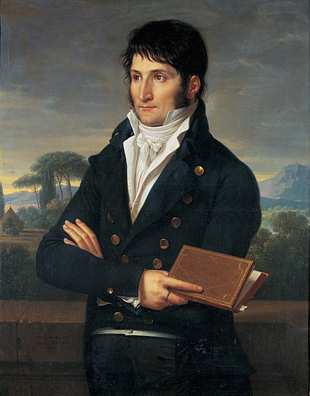 Lucien Bonaparte, 24-year-old brother of Napoleon, was elected President of the Council of Five Hundred, by Francois-Xavier Fabre, Museo Napoleonico, Rome Fabre - Lucien Bonaparte.jpg