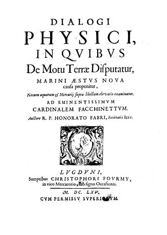 Honoré Fabri - Dialogi physici, 1665