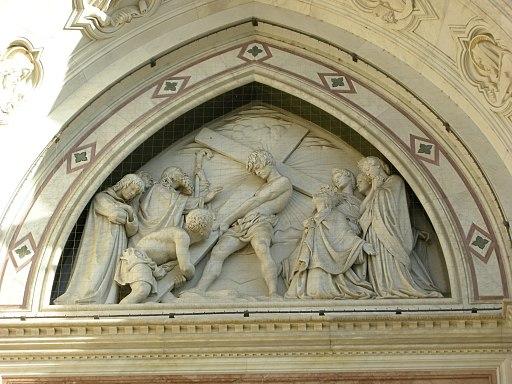 Facciata di santa croce, 01 invenzione della croce di titto sarrocchi