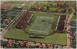 Fairfield Stadium - Postcard showing the stadium