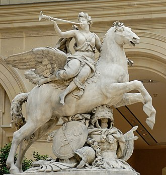 Antoine Coysevox - Equestrian Fame of Louis XIV, for Marly, 1702, removed to the Tuileries Garden, 1719