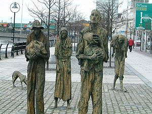 National Famine Commemoration Day - Famine memorial in Dublin, endpoint of the CCIFV walk