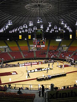 Interior view Fant–Ewing Coliseum in 2011