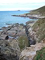 Fault east of Saddle Cove - geograph.org.uk - 326538.jpg