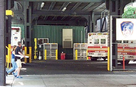 A typical FDNY EMS station Fdny-ems-station-under-railroad.jpg
