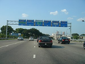 Federal Highway, Malaysia - The Federal Highway, connecting Kuala Lumpur and Klang, Selangor.
