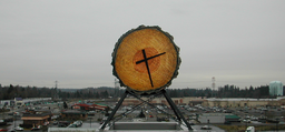 Federal Way Transit Center Clock Skyline.png