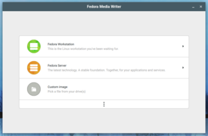 Fedora Media Writer - Image: Fedora media writer v 4.1.0