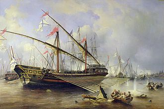 1720 in Sweden - The Battle of Grengam, 1720 by Ferdinand Victor Perrot.