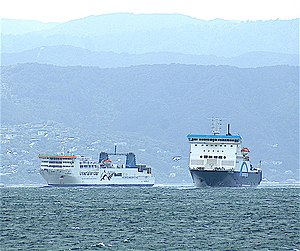 Cook Strait - Cook Strait ferries in Wellington Harbour