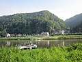Ferry over the Elbe and Schmilka, just north of the Czech border. Sachsen, Germany. - panoramio.jpg