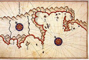 Fethiye - Historic map of Fethiye by Piri Reis