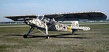 Photographie en couleur d'un Fieseler Fi 156 Storch