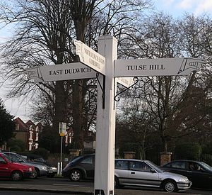Dulwich - Image: Finger Signpost dulwich