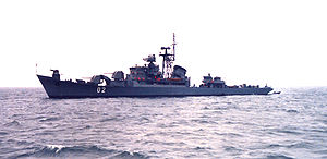 Finnish Minelayer Hameenmaa (ex-Riga-Class) in 1982.jpg