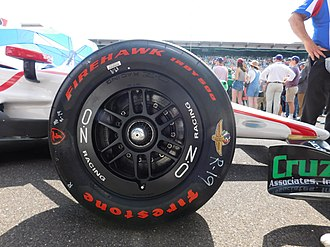 OZ Group - OZ racing wheels on an Indy car