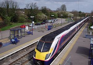 A First Great Western Class 180 DMU at Radley ...