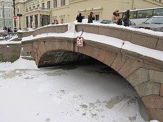 First Winter Bridge Bridge in Saint Petersburg