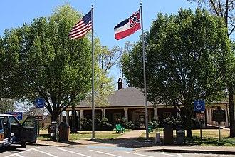 Flag of Mississippi - Mississippi Welcome Center in 2016
