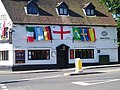 Flags out, Swan Hotel, Kineton - geograph.org.uk - 729812.jpg