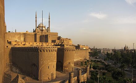 The Citadel of Cairo, with the Mosque of Muhammad Ali. Flickr - HuTect ShOts - Citadel of Salah El.Din and Masjid Muhammad Ali ql`@ SlH ldyn l'ywby wmsjd mHmd `ly - Cairo - Egypt - 17 04 2010 (4).jpg