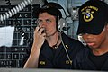 Flickr - Official U.S. Navy Imagery - A Navy officer serves as helm safety officer..jpg