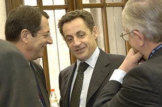 Nicolas Sarkozy - Nicolas Sarkozy in 2006 with Cypriot opposition leader Nicos Anastasiades
