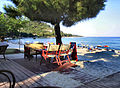 Flickr - ronsaunders47 - BEACH BAR IN GOLDEN BEACH. THASSOS GREECE..jpg