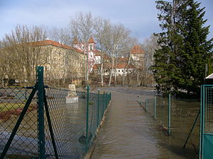 2006 European floods - The flood's effects in Znojmo.