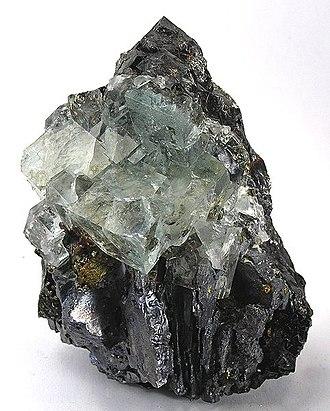 Sphalerite - Image: Fluorite Galena Chalcopyrite 172352