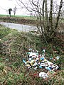 Fly-tipping near Belle Vue Lodge - geograph.org.uk - 658510.jpg
