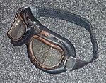 Flying goggles 1980s on grey wool 02.jpg