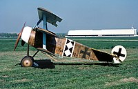 A Fokker Dr. 1 similar to the one Bongartz flew