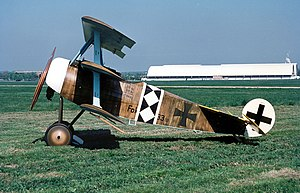 Triplane - A flyable reproduction of the Fokker Dr.I of World War I, the best known triplane.