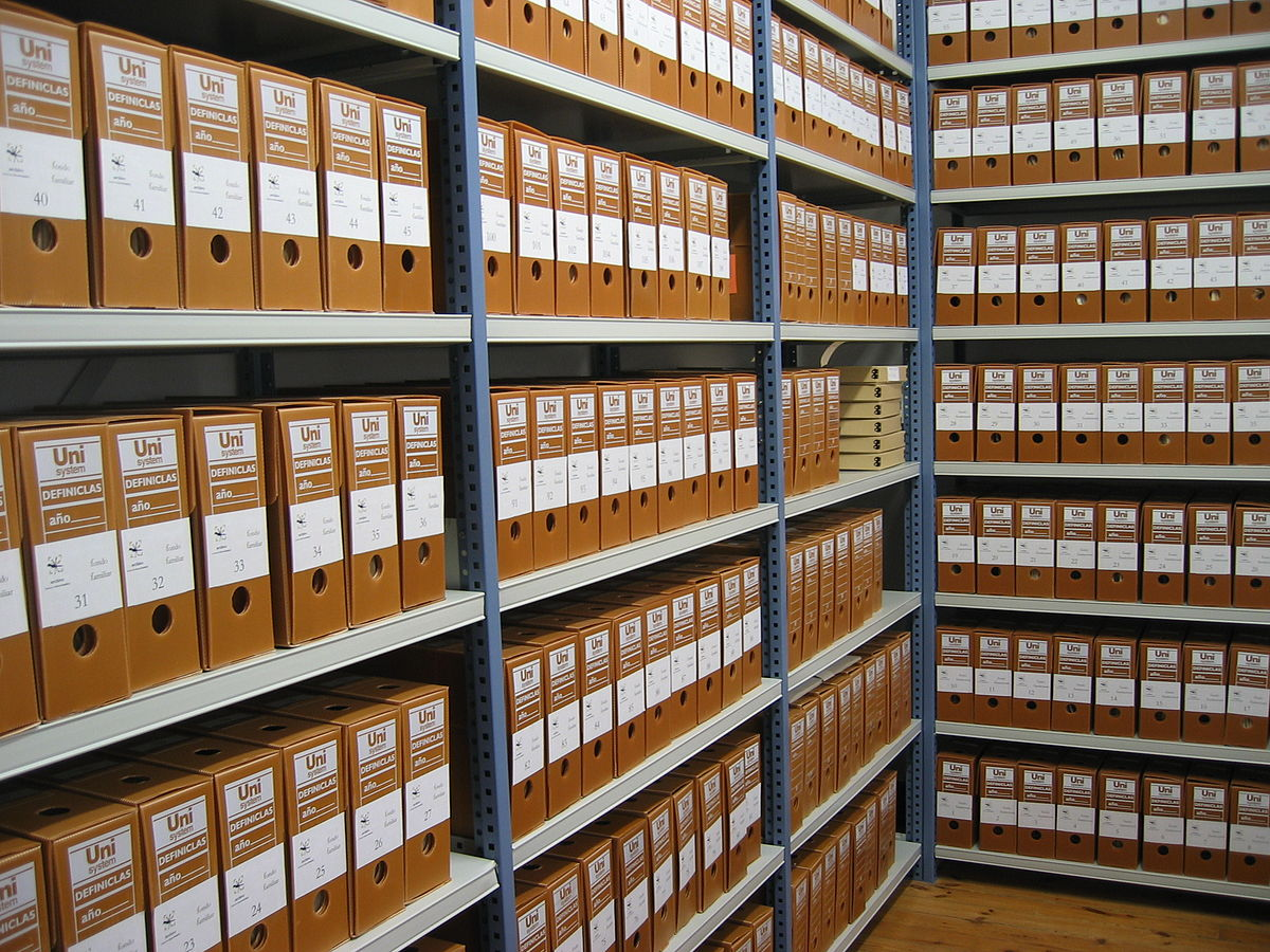 An image of archives.