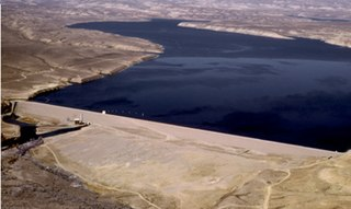 Fontenelle Dam Dam in Lincoln and Sweetwater counties, Wyoming, USA