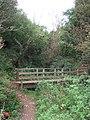 Footbridge on coast path near Dale Fort - geograph.org.uk - 1526309.jpg