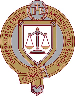 Fordham University School of Law - Image: Fordham Law School Seal