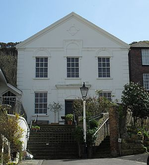 Ebenezer Particular Baptist Chapel, Hastings - The chapel from the northwest