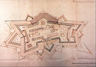 Barraux - Drawing by Vauban (1692).Original at Historical Services of the French Army (Vincennes)