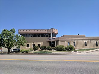 Fort Collins Coloradoan - Location of former headquarters (until 2005) with the newspaper name still legible under the current name