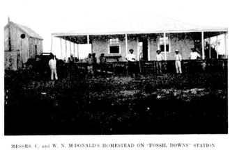 Fossil Downs Station - Homestead at Fossil Downs Station, 1902