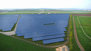 Renewable energy in the Czech Republic - Photovoltaic power station at Brno-Tuřany