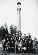 Founding members of the Canadian Japanese Association at the Japanese Canadian War Memorial