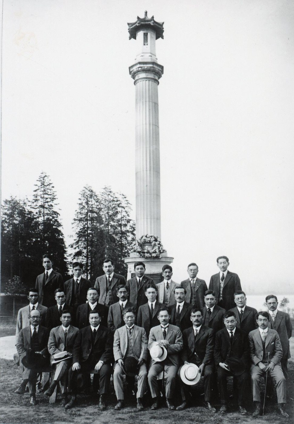 Founding members of the Canadian Japanese Association at the Japanese Canadian War Memorial.jpeg