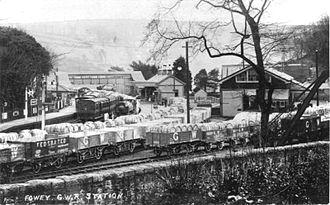 Cornwall Minerals Railway - Fowey station in GWR days