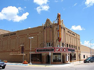 National Register of Historic Places listings in Lincoln County, Nebraska - Image: Fox Theater Lincoln Co NE