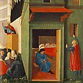 Fra Angelico - The Story of St Nicholas - Giving Dowry to Three Poor Girls - WGA00503.jpg