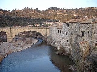 Orbieu river in France